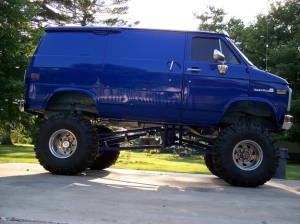 lifted van